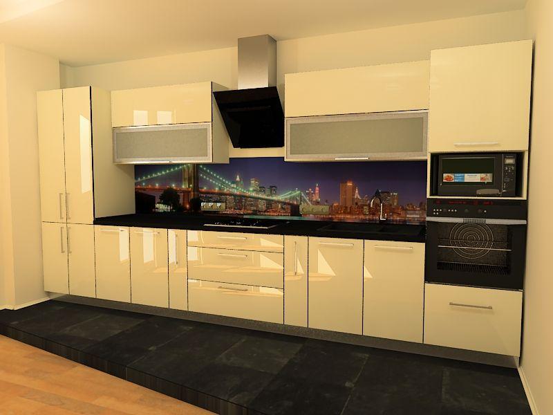 Дизайн акриловой кухни